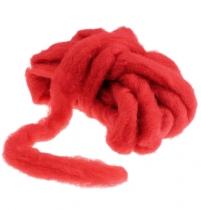 Wollen lont 10m rood