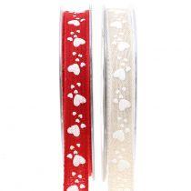 Decoratieve tape met hartjes 15 mm 15 m