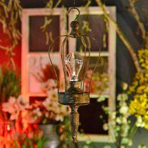 LED lantaarn, decoratieve lamp, antiek look, Ø16cm H43cm