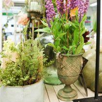 Metalen beker om te planten, beker met handvatten, plantenbak Ø25cm H43cm