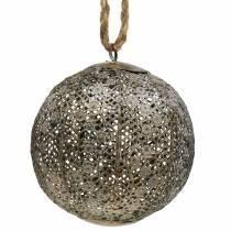 Metalen bol antiek om op te hangen Ø13,5cm