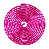 Metaalschroef draadschroef Roze 2mm 120cm 2st