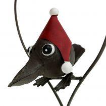 Vogel in het hart Deco hanger metaal grijs 48cm