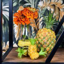 Kunst mini ananas H6.5cm - 8cm 6st