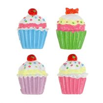 Mini cupcakes gekleurd 2,5 cm 60 st