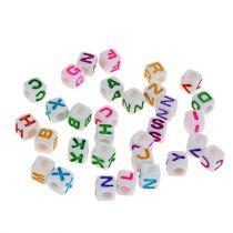 Minikubussen met letters 7 mm gekleurd 90 g