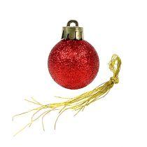 Mini kerstbal rood Ø3cm 14st