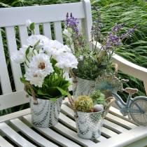 Papaver in een pot witte zijden bloemen florale decoratie