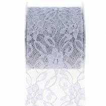 Kant lint deco tape grijs 70mm 15m
