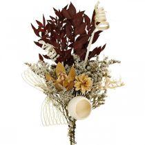 Natuurlijke editie grafkussens rouwbloemwerk 3-voudig assorti 24st