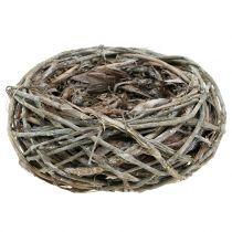 Deco nest natuur Ø17cm 2st