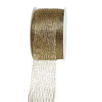 Gaasband goud draadversterkt 40mm 15m