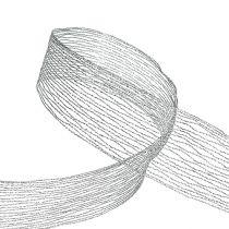 Gaasband zilver draadversterkt 40mm 15m