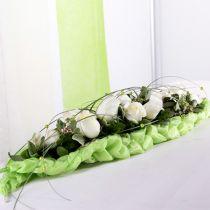 Steekschuim baksteen tafeldecoratie groen 22cm x 7cm x 5cm 10st