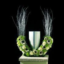 Steekschuim urnen halve ring H29cm Ø47cm 1st rouwsieraad