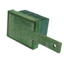 Steekschuimstenen met houten basis 21cm x 9cm x 8cm 8st