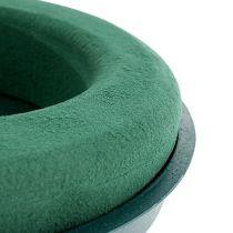 Plug-in compound ring plug-in foam met schelp groen Ø30cm H4.5cm 2st