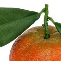 Oranje met blad 7cm 4st