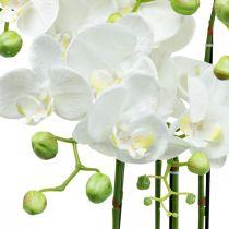 Kunstorchideeën in pot witte kunstplant 63cm