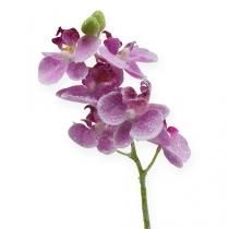 Orchidee met glitter, roze 35cm