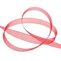 Organza lint met zelfkant 1.5cm 50m rood