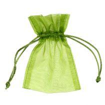 Organza zakje groen 12cm x 9cm 10st