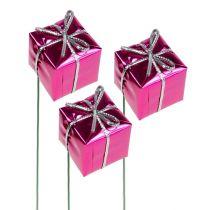 Pakket 2,5 cm op de draad roze 60 stks