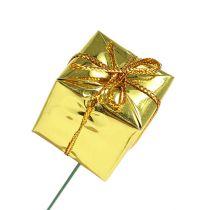 Pakket 2.5cm op draad goud 60st