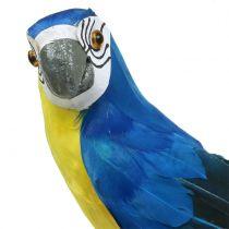 Decoratieve papegaai blauw 44cm