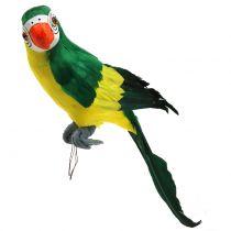 Decoratieve papegaai groen 44cm