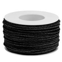 Papierkoord omwikkeld Ø2mm 100m zwart