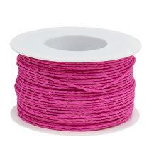 Papierkoord draad gewikkeld Ø2mm 100m roze