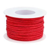 Papierkoord draad gewikkeld Ø2mm 100m rood