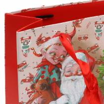 "Geschenkzak papieren zak ""Santa Claus"" H24cm"