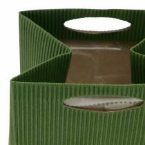 Papieren zak bloempot plantenbak groen mix 10.5cm 12st