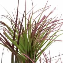 Kunstgras in een pot Groen, rood paars 45cm