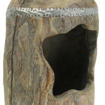 Decoratief beeld Paulownia hout Ø15cm H39cm