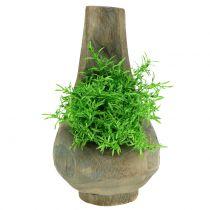 Plantpot Paulownia hout Ø17cm H30cm