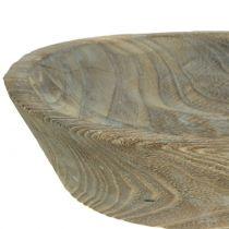 Decoratieve schaal Paulownia hout ovaal 44cm x 19cm H8cm