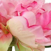 Pioenrozen met knop roze L30cm 2st