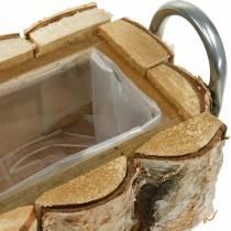 Berken plantenbak met handvatten 40 × 1513cm deco berkenhout
