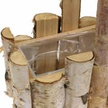Planten mand berken takken met handvat 24x14.5cm H25.5cm