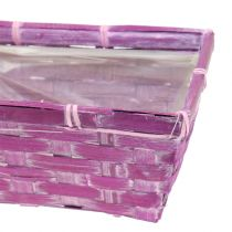 Chipsmand vierkant paars/wit/roze 8st