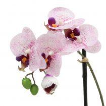 Kunstmatige phalaenopsis paars-wit in schaal H38cm