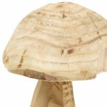 Paddestoel Paulownia hout Ø16cm H18cm