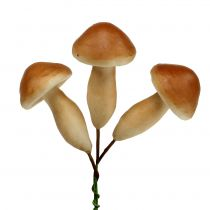 Champignons op draad bruin 7cm 18st