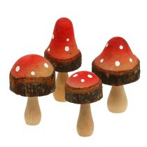 Champignons van houtmix 5,5 cm - 8 cm 8 stks