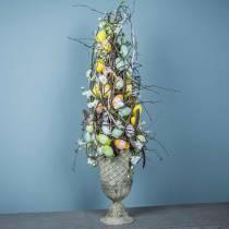 Plastic eieren 4cm gekleurd 36st