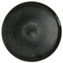 Plastic borden 2-set grijs Ø22cm - 27cm