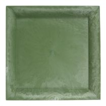 Kunststof bord groen vierkant 19,5 cm x 19,5 cm